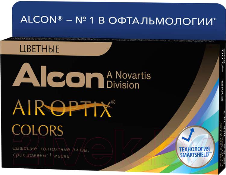 Купить Контактная линза Air Optix, Colors Зеленый самоцвет Sph.-2.0, Индонезия