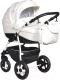 Детская универсальная коляска INDIGO 18 Spesial + F 3 в 1 (Sp 12, белая кожа) -