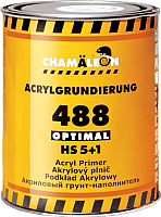 Грунтовка автомобильная CHAMALEON 5+1 HS Optimal / 14881 (1л, серый) -