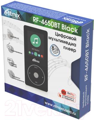 MP3-плеер Ritmix RF-4650BT (8GB, черный)