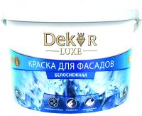 Краска Dekor ВД-АК 111 для фасада (3кг, белоснежный) -