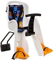 Детское велокресло STG GH-908E / X95383 (белый с разноцветным текстилем) -