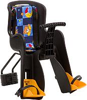 Детское велокресло STG GH-908E / X95384 (черный с разноцветным текстилем) -