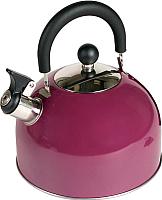 Чайник со свистком Endever Aquarelle-302 (бордовый) -