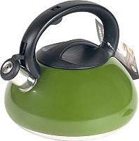 Чайник со свистком Endever Aquarelle-305 (темно-зеленый) -
