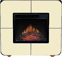 Портал для камина Смолком Cube V23 (белый/черная кромка) -