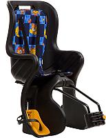 Детское велокресло STG GH-928LG / X95385 (черный с разноцветной накладкой) -