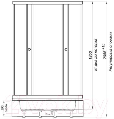 Душевой уголок Triton Риф 100x100 В (грейс/белый)