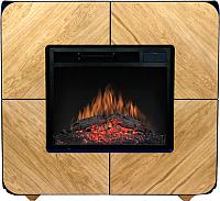 Портал для камина Смолком Cube V23 (дуб светлый/венге) -