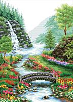 Набор для вышивания БЕЛОСНЕЖКА Река в лесу / 1554-14 -