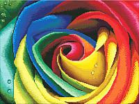 Набор для вышивания БЕЛОСНЕЖКА Цветные лепестки / 2645-14 -