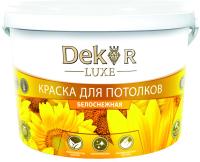 Краска Dekor ВД-АК 216 для потолка (14кг, белоснежный) -