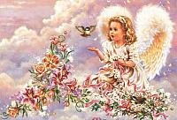 Набор для вышивания БЕЛОСНЕЖКА Серебристый ангел / 4002-14 -
