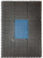 Коврик грязезащитный No Brand 98х1000 (искусственная травка/синий) -