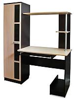 Компьютерный стол SV-мебель №1 (дуб венге/дуб млечный) -