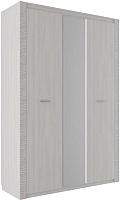 Шкаф SV-мебель Гамма 20 трехстворчатый комбинированный (ясень анкор светлый/сандал светлый) -