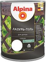 Защитно-декоративный состав Alpina Лазурь-гель (750мл, бесцветный) -