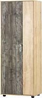 Шкаф SV-мебель Прихожая Визит 1 двухстворчатый комбинированный (дуб сонома/сосна джексон) -