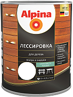 Защитно-декоративный состав Alpina Лессировка (750мл, бесцветный) -