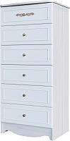 Комод SV-мебель Акварель 1 (ясень анкор светлый/белый матовый/море) -