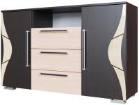 Комод SV-мебель Спальня Лагуна 5 (дуб венге/дуб млечный) -