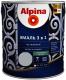 Эмаль Alpina По ржавчине 3 в 1 RAL7040 (2.5л, шелковисто-матовый серый) -
