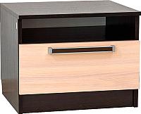 Прикроватная тумба SV-мебель Спальня Эдем 2 (дуб венге/дуб млечный) -