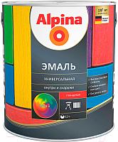 Эмаль Alpina Универсальная (750мл, серый глянцевый) -
