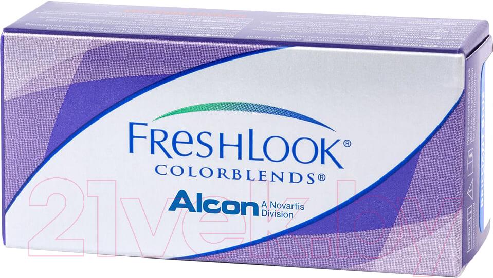 Купить Контактная линза FreshLook, Colorblends Медовый Sph-0.00 D14.5, Индонезия