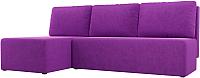 Диван угловой Mio Tesoro Берген 179 левый (микровельвет, фиолетовый) -