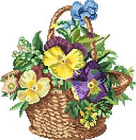 Набор для вышивания БЕЛОСНЕЖКА Цветочная корзинка / 6017-14 -