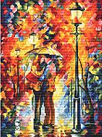 Набор для вышивания БЕЛОСНЕЖКА Поцелуй под дождем / 980-14 -