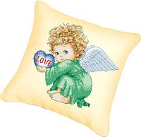 Набор для вышивания БЕЛОСНЕЖКА Подушка 802. Милый ангел (канва бежевая) -