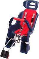 Детское велокресло SunnyWheel SW-BC-137 / X69809 (синий/красный) -