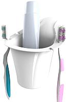 Держатель для зубной пасты и щётки Bama Portaspazzolini 70362 (белый) -