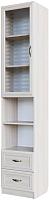 Шкаф-пенал с витриной SV-мебель Вега со стеклом ДМ-05 (сосна карелия) -