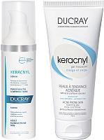 Набор косметики для лица Ducray Керакнил сыворотка 30мл + гель пенящийся 100мл -