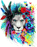 Картина по номерам Picasso Цветочный лев (PC4050477) -