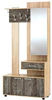 Секция в прихожую SV-мебель Визит 1 Зеркальная (дуб сонома/сосна джексон) -