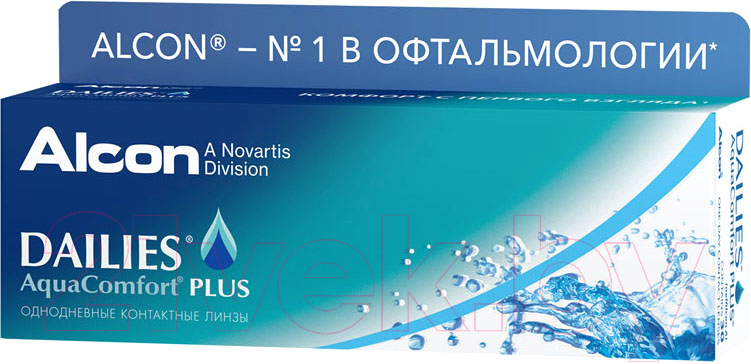 Купить Контактная линза Dailies, Aqva Comfort Plus Sph+5.25 R8.7 D14.0, Сша