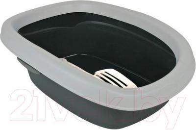 Туалет-лоток Trixie Carlo 2 40121 (серый/светло-серый) - общий вид