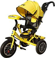 Детский велосипед с ручкой BMW Trike 3 колеса / BMW-M-N1210-YELLOW (желтый) -