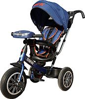 Детский велосипед с ручкой BMW Trike 3 колеса / BMW5SM-M-N1210-DBLUE (темно-синий) -