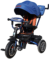 Детский велосипед с ручкой BMW Trike 3 колеса / BMW5S-M-N1210-DBLUE (темно-синий) -