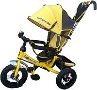 Детский велосипед с ручкой Lexus Trike 3 колеса / 950-N1210-TXT-YELLOW (желтый) -