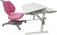 Парта+стул Растущая мебель Picasso E201 + Smart DUO MC204 (розовый) -