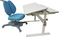 Парта+стул Растущая мебель Picasso E201 + Smart DUO MC204 (голубой) -