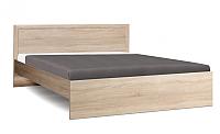 Полуторная кровать Олмеко 21.52-01 с настилом (дуб сонома/дуб сонома) -