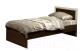 Односпальная кровать Олмеко 21.55 с настилом (венге/дуб линдберг) -