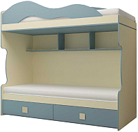 Двухъярусная кровать Горизонт Мебель Радуга (василек) -
